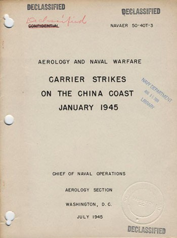 Cover of Carrier Strikes on the China Coast January 1945