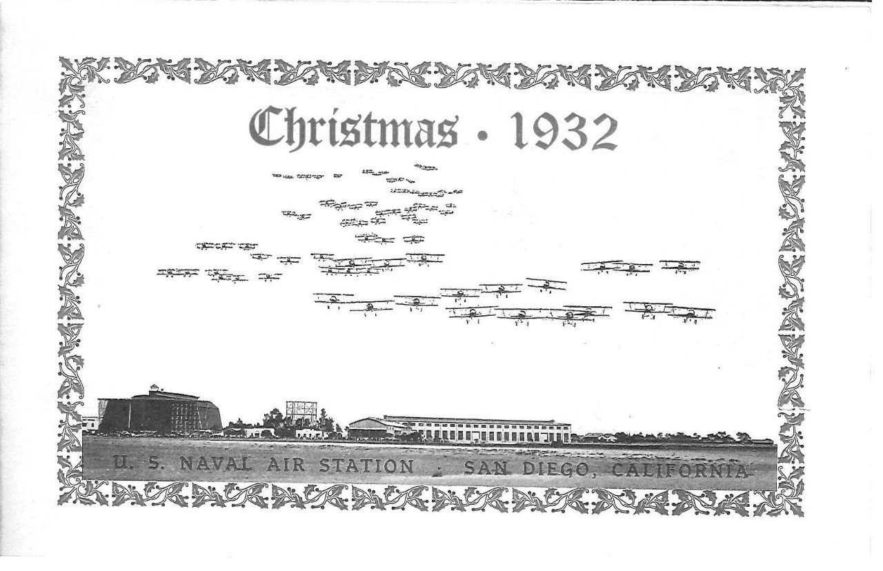 Christmas 1932 menu, U.S. Naval Air Station, San Diego, California
