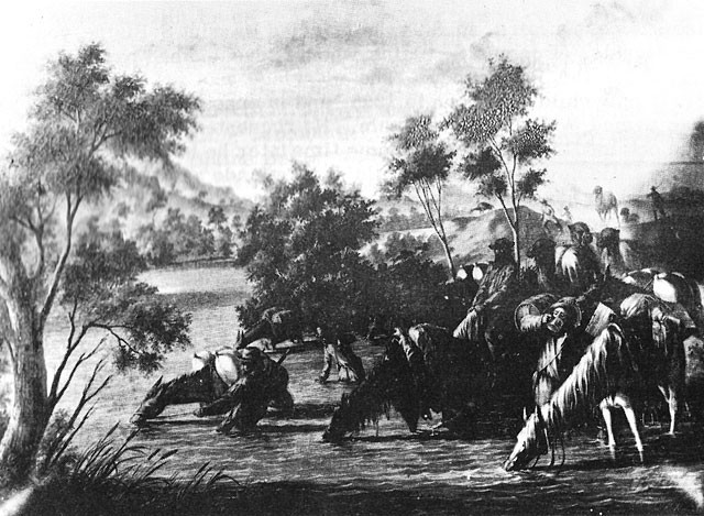 Image of another scene of Edward F. Beale's Camel Expedition, 1856