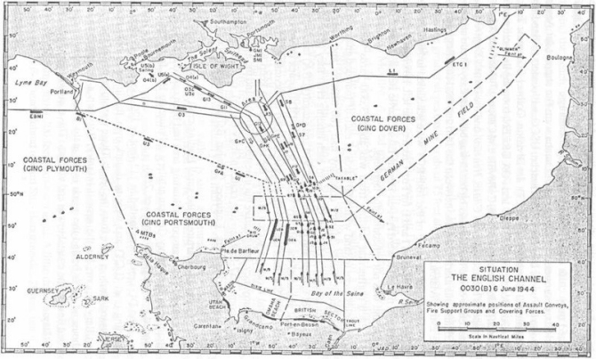 SITUATION THE ENGLISH CHANNEL 0030(B) 6 June 1944