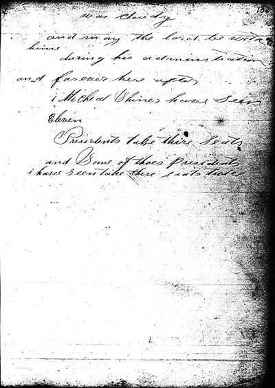 Page 186 of the Michael Shiner Diary