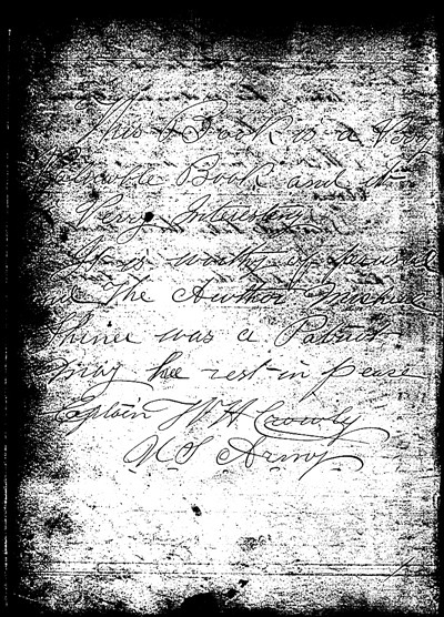 Letter from Captain W.H. Crowly