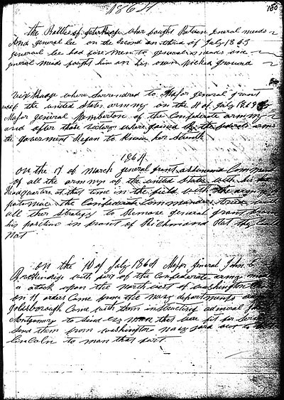 Page 180 of the Michael Shiner Diary