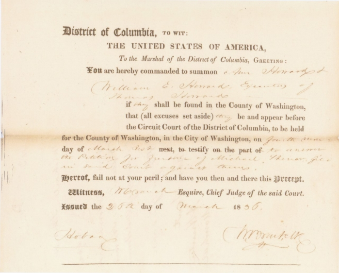 Michael Shiner 1836 Petition