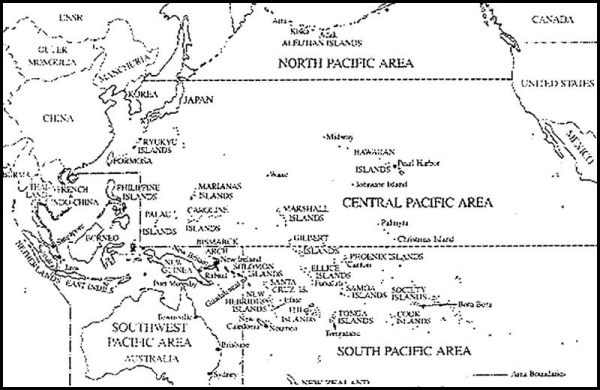 Figure 1 - Map of Pacific Area of Operations