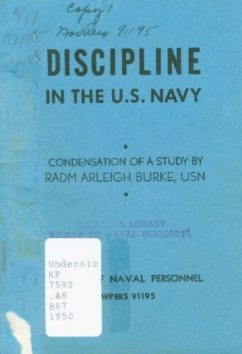Image of cover - Discipline in the U.S. Navy