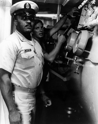 <p>Senior Chief Boatswains' Mate Carl M. Brashear, USN</p>