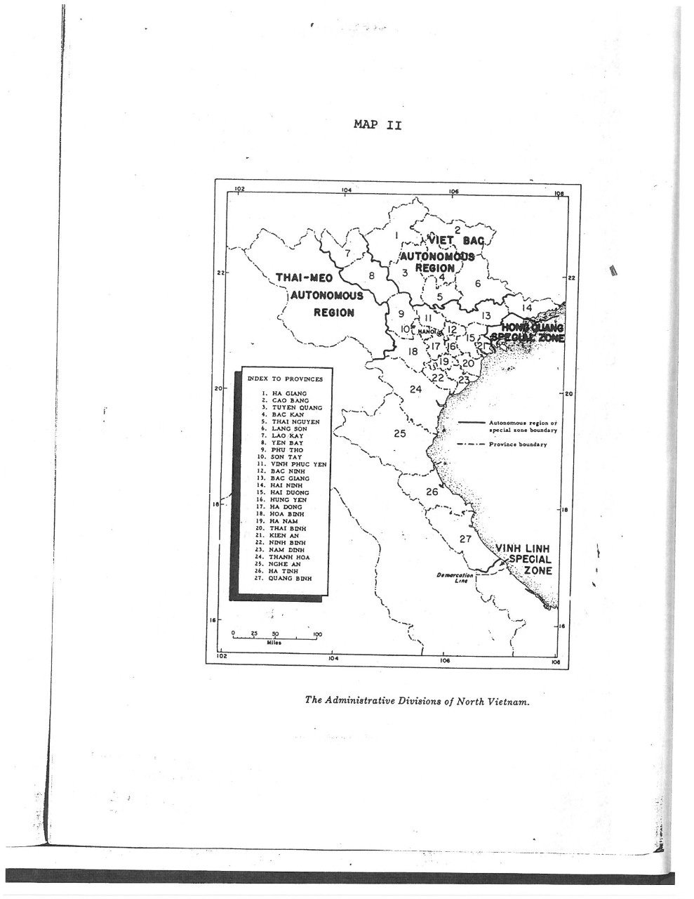 The Administrative Divisions of North Vietnam