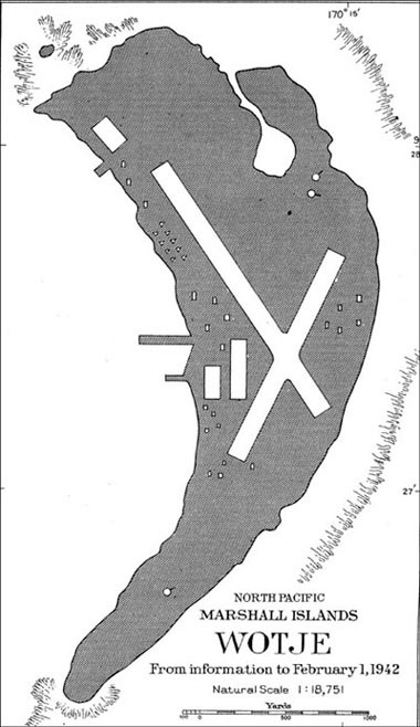 Map - North Pacific Marshall Islands - Wotje