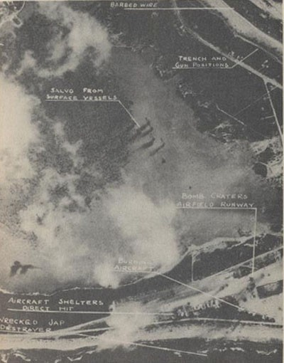 Wake Island during the bombardment of February 24, 1942