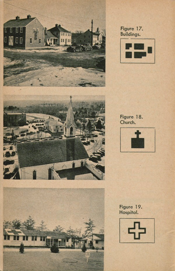 Figure 17: Buildings, Figure 18: Church, Figure 19: Hospital.