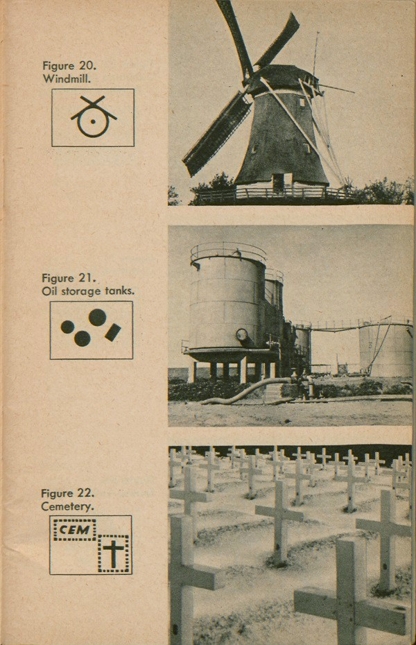 Figure 20: Windmill. Figure 21: Oil storage tanks. Figure 22: Cemetery.