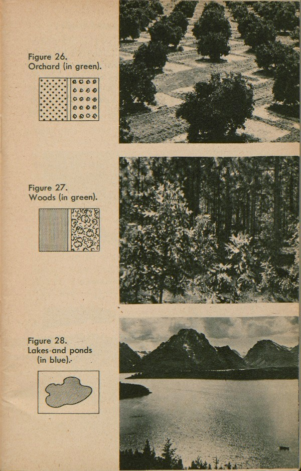 Figure 26: Orchard. Figure 27: Woods. Figure 28: Lakes and ponds.