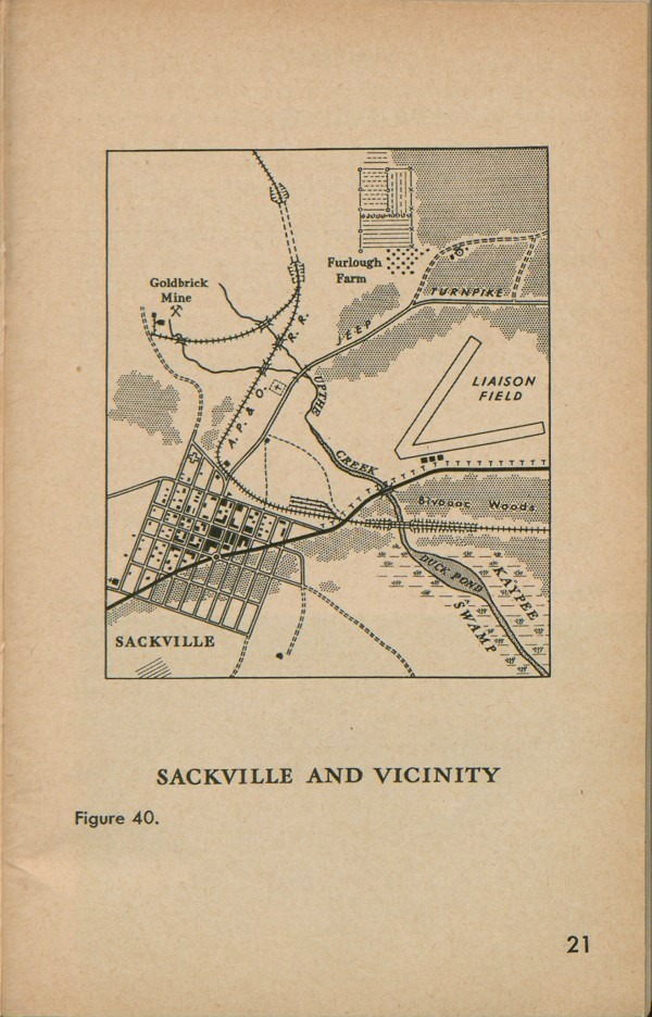 Figure 40: Map of Sackville and Vicinity.