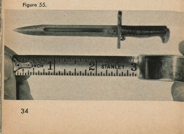 Figure 55: A 2.5 inch long blade being measured using a measuring tape.