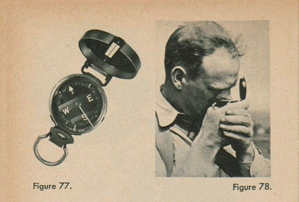 Figure 77: A compass. Figure 78: A man looking through a compass.
