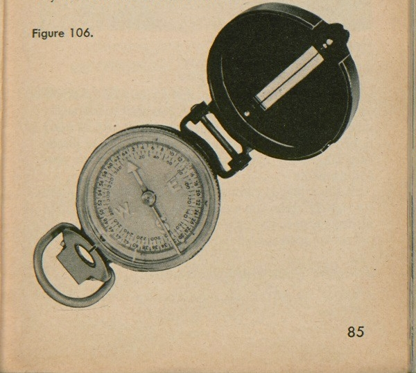 Figure 106: A lensatic compass.