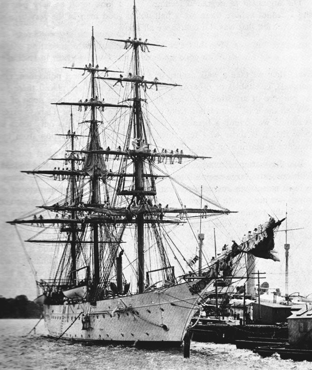 U.S. Training Ship Chesapeake in 1904