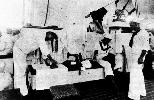 Ropeyarn Sunday in the USS OLYMPIA, 1898