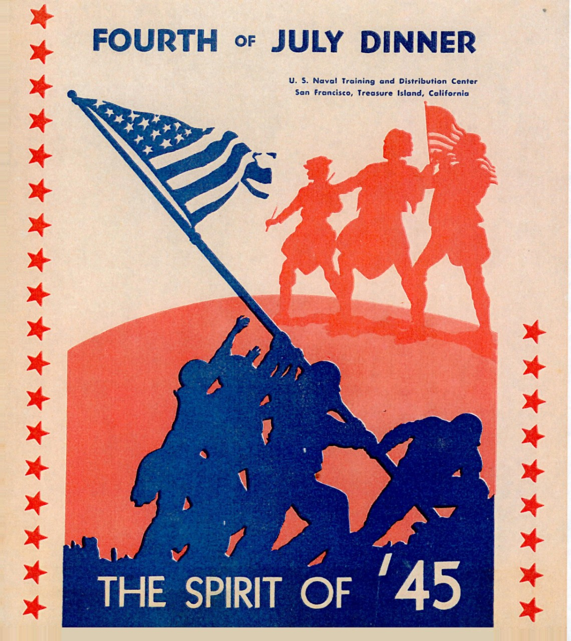 cover page - Fourth of July Dinner, The Spirit of '45