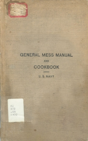 General Mess Manual Book Cover