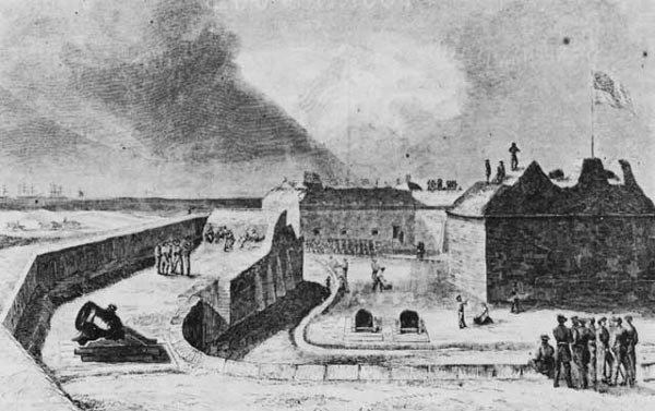 Fort Pickens in late 1861.