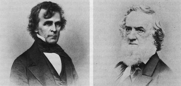 (l. to r.) The Honorable Isaac Toucey, Secretary of the Navy 1857 to