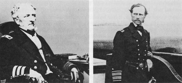 Captain Franklin Buchanan, USN -- Rear Admiral John A. Dahlgren, USN