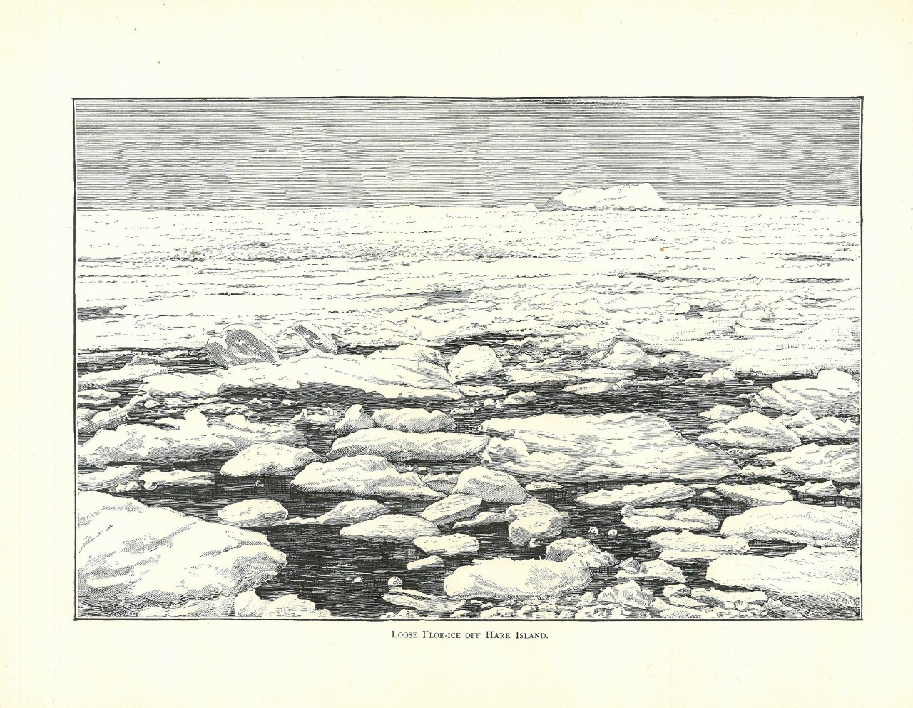 Loose Floe-Ice Off Hare Island.