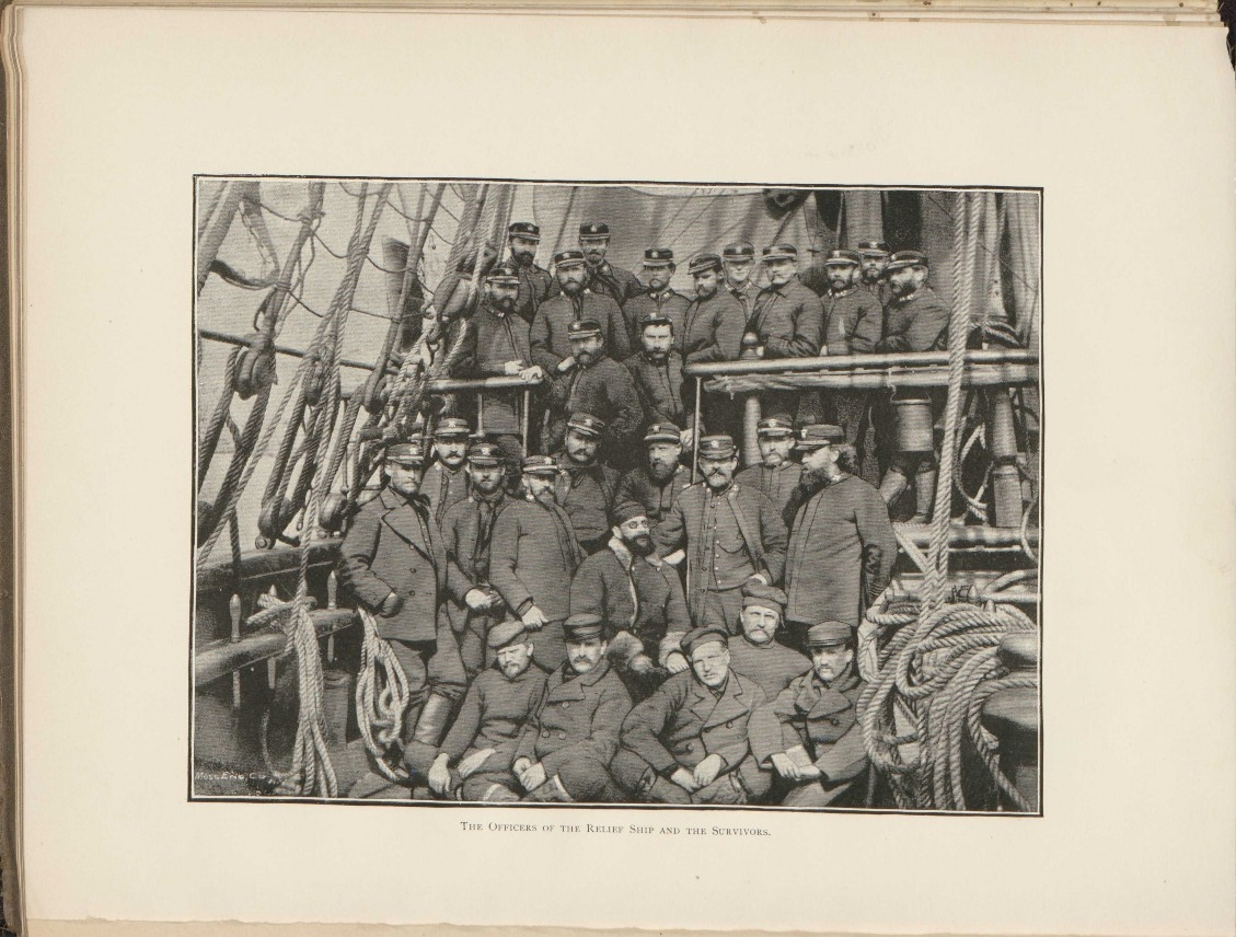 The Officers Of The Relief Ship And The Survivors.