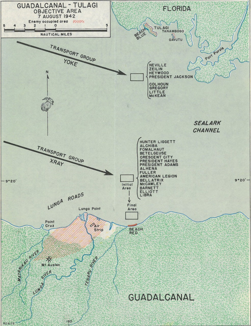 Map 3: Guadalcanal-Tulagi Objective Area