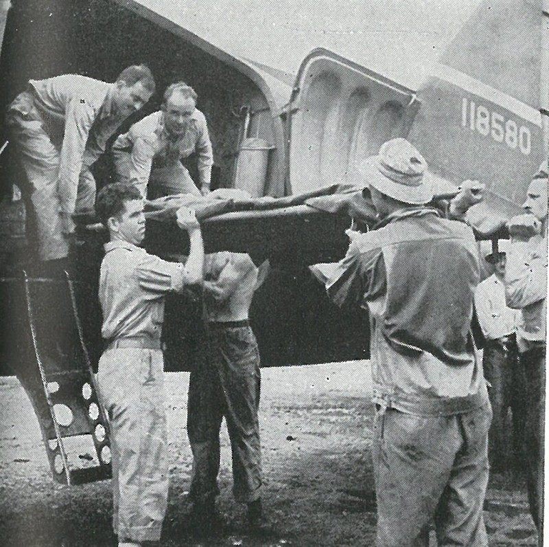 AIR EVACUATION, long relied upon by the Marine Corps, flew out 2,879 casualties from Guadalcanal between 7 August and 9 December.