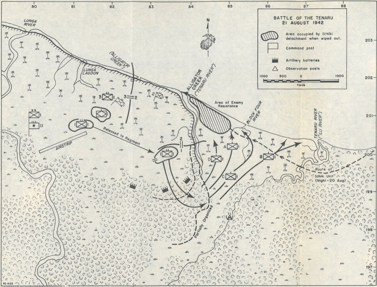Map 6: Battle of the Tenaru: 21 August 1942