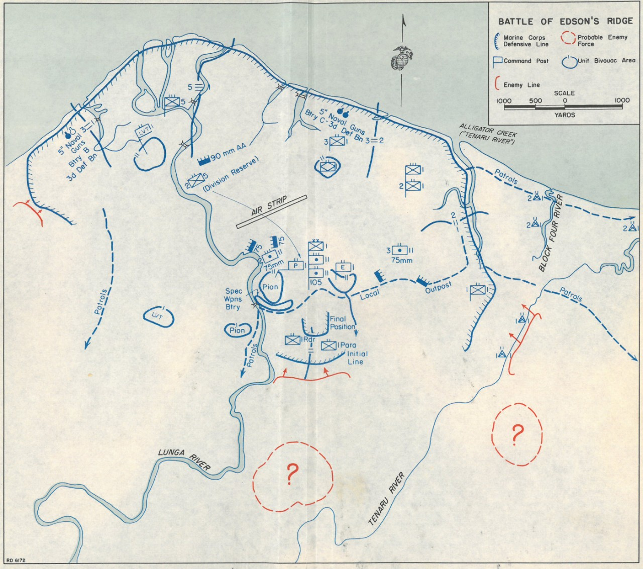 Map 8: Battle of Edson's Ridge .