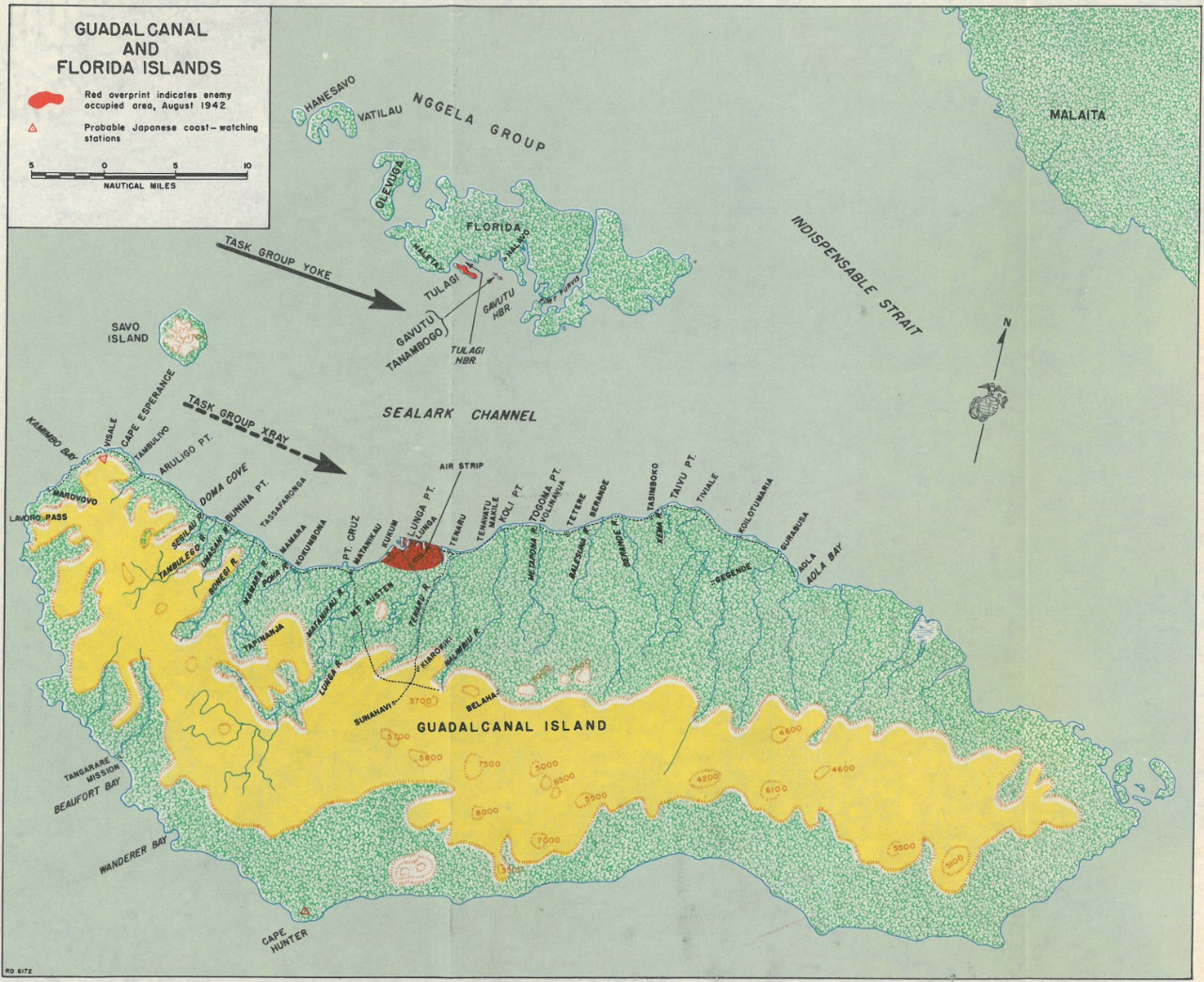 Map 1: Guadalcanal and Florida Islands