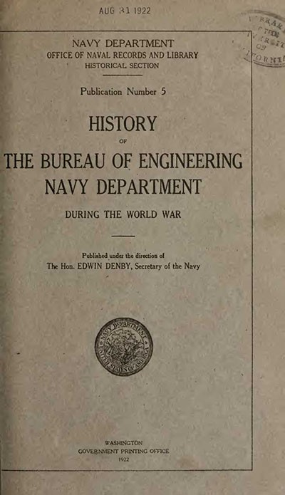 Cover image - History of the Bureau of Engineering