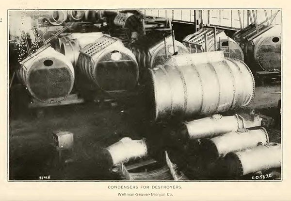 CONDENSERS FOR DESTROYERS.  Wellman-Seaver-Morgan Co.