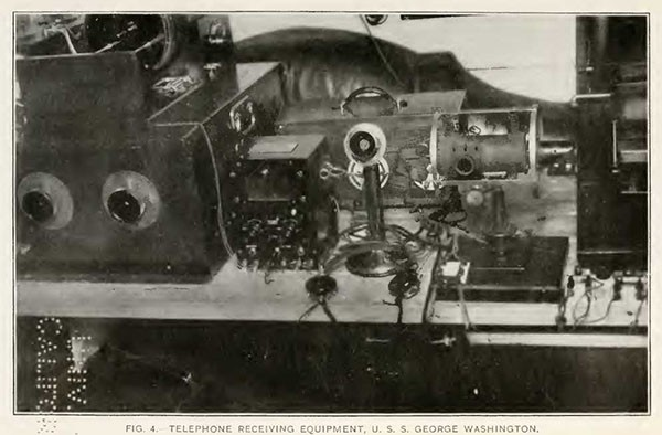 FIG. 4. TELEPHONE RECEIVING EQUIPMENT, U. S. S. GEORGE WASHINGTON.
