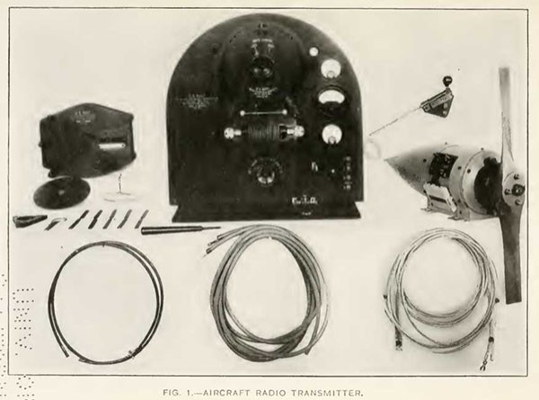 FIG. 1.--AIRCRAFT RADIO TRANSMITTER.