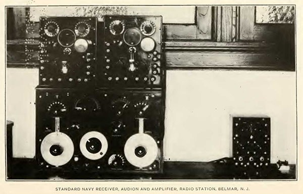 STANDARD NAVY RECEIVER, AUDION AND AMPLIFIER, RADIO STATION, BELMAR, N. J.