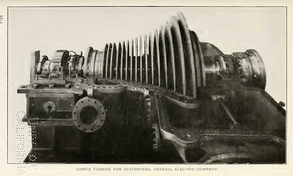 CURTIS TURBINE FOR DESTROYERS, GENERAL ELECTRIC COMPANY.
