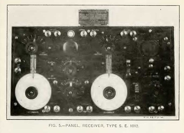 FIG. 5.--PANEL, RECEIVER, TYPE S. E. 1012.
