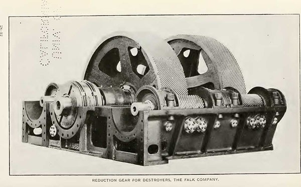 REDUCTION GEAR FOR DESTROYERS, THE FALK COMPANY.