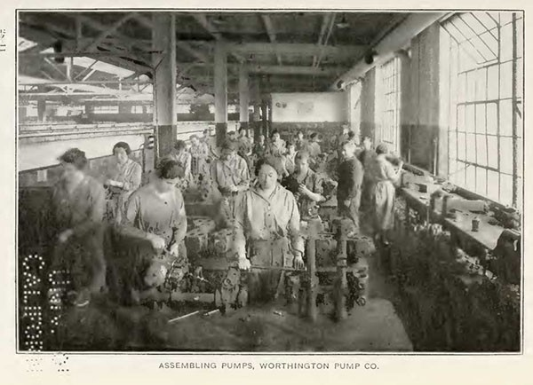 ASSEMBLING PUMPS, WORTHINGTON PUMP CO.
