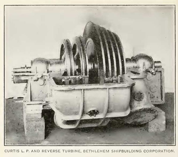 CURTIS L. P. AND REVERSE TURBINE, BETHLEHEM SHIPBUILDING CORPORATION.