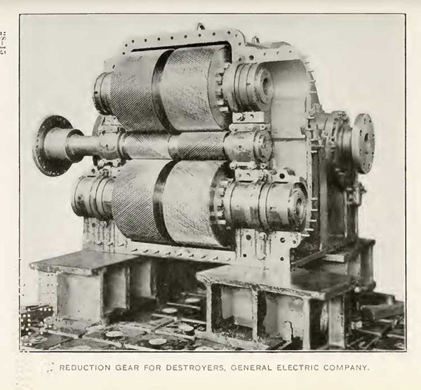 REDUCTION GEAR FOR DESTROYERS, GENERAL ELECTRIC COMPANY.