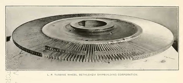 L. P. TURBINE WHEEL, BETHLEHEM SHIPBUILDING CORPORATION.