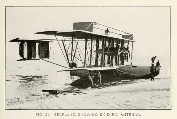 FIG. 21.--SEAPLANE, SHOWING SKID FIN ANTENNA.