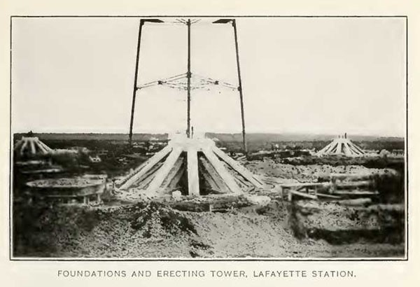 FOUNDATIONS AND ERECTING TOWER, LAFAYETTE STATION.