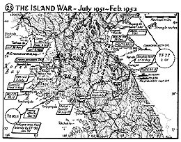 Map 25. The Island War, July 1951–February 1952.